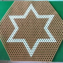 2 star brown and cream table mat