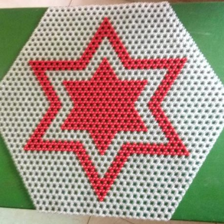 Triple star white and red colour