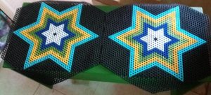 Beaded multiple colours star design