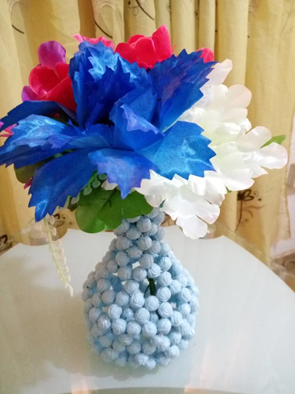 Beaded Flower Vases Uje Noble Design Xclusive Product Shop
