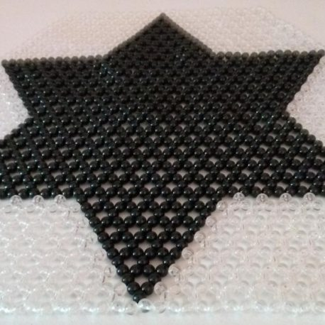 Black Star Beaded Hexagonal Mat