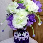 "Beaded Vase ""Uje Classic"" Design"