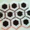 black and white divine table mat