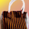 "Beaded Bag - Triangular shaped ""Yewun"" Royal design"