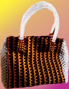 "Beaded Bag - Triangular shaped ""Yewun"" Royal design"