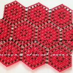 red and black divine tablemat