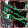 Beaded Bag: Rose Flower Design black beads